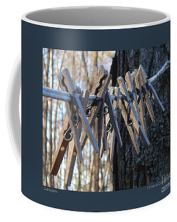 Clothespins Coffee Mug