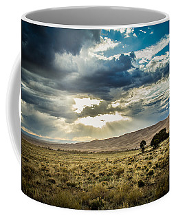 Cloud Break Over Sand Dunes Coffee Mug