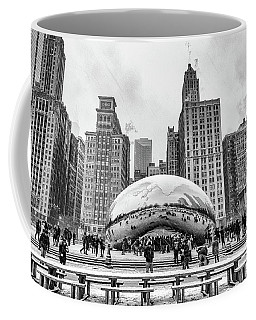 Cloud Gate Bw Coffee Mug