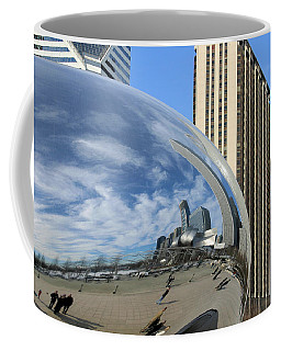 Coffee Mug featuring the photograph Cloud Gate Reflections by Kristin Elmquist