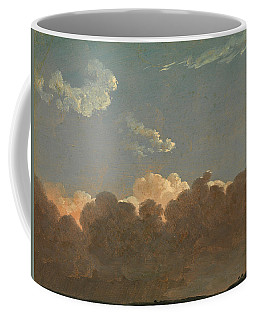 Coffee Mug featuring the painting Cloud Study. Distant Storm by Simon Denis
