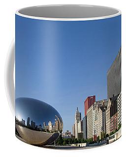 Cloudgate Reflects Michigan Avenue  Coffee Mug