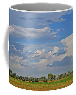 Clouds Aboive The Tree Farm Coffee Mug