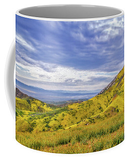 Clouds Above Temblor Range Coffee Mug