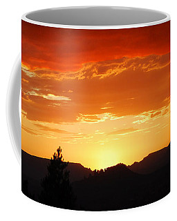 Coffee Mug featuring the photograph Clouds Afire by Howard Bagley
