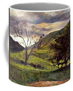 Clouds And Cattle Coffee Mug