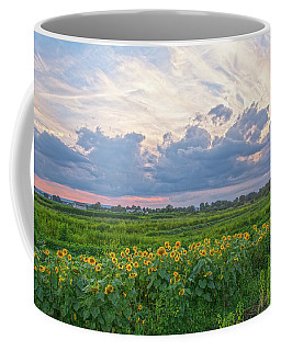 Clouds And Sunflowers Coffee Mug