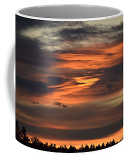 Coffee Mug featuring the photograph Clouds At Dawn Over Ridge by Margarethe Binkley