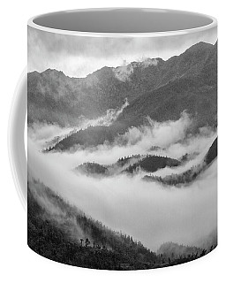 Coffee Mug featuring the photograph Clouds In Valley, Sa Pa, 2014 by Hitendra SINKAR