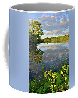 Clouds Mirrored In Snug Harbor Coffee Mug