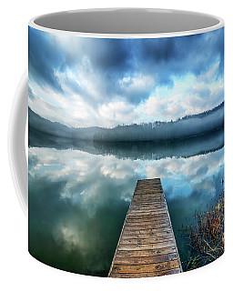 Clouds Mist Lake Coffee Mug