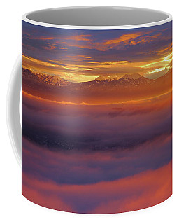 Clouds Of Fire Surround The La Sal Mountains From Dead Horse Point State Park Coffee Mug