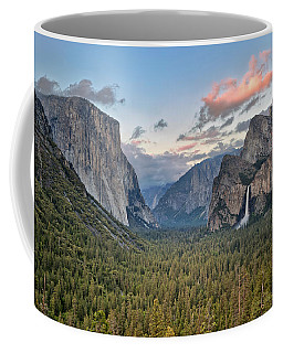 Clouds Over A Valley, Yosemite Valley Coffee Mug