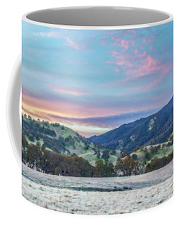 Clouds Over Frosty Landscape Coffee Mug