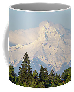 Clouds Over Mount Hood Closeup Coffee Mug