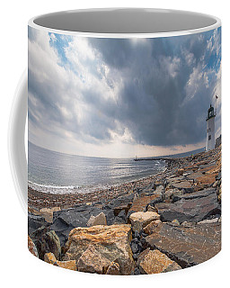 Clouds Over Old Scituate Light Coffee Mug