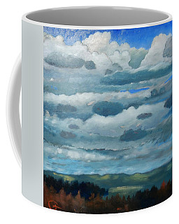 Coffee Mug featuring the painting Clouds Over South Bay by Gary Coleman