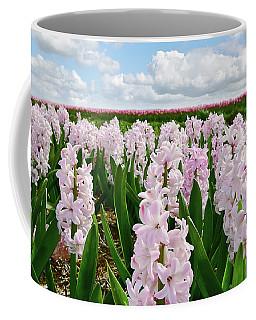 Clouds Over The Pink Hyacinth Field Coffee Mug