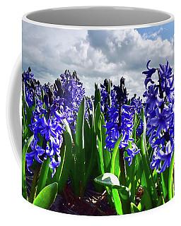 Clouds Over The Purple Hyacinth Field Coffee Mug