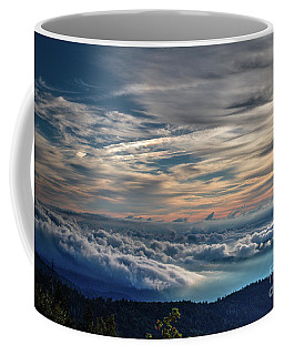 Coffee Mug featuring the photograph Clouds Over The Smoky's by Douglas Stucky