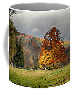 Coffee Mug featuring the photograph Clouds Part Over Marsh Billings-rockefeller Nhp by Jeff Folger