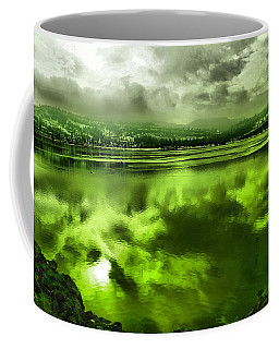 Coffee Mug featuring the photograph Clouds Reflecting Off The Columbia  by Jeff Swan