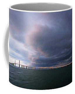 Clouds Roll Over Sunshine Skyway Coffee Mug