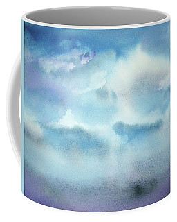 Coffee Mug featuring the painting Cloudscape by Ellen Levinson