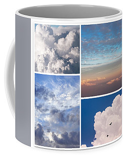 Coffee Mug featuring the photograph Cloudscapes Collage by Jenny Rainbow