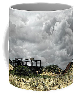 Coffee Mug featuring the photograph Cloudy Beach By Kaye Menner by Kaye Menner