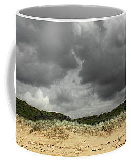 Coffee Mug featuring the photograph Cloudy Beach II By Kaye Menner by Kaye Menner