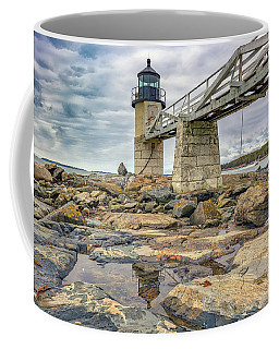 Coffee Mug featuring the photograph Cloudy Day At Marshall Point by Rick Berk