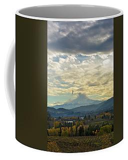 Cloudy Day Over Mount Hood At Hood River Oregon Coffee Mug