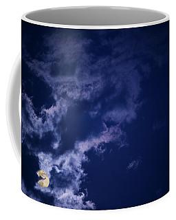Cloudy Moon With Jupiter Coffee Mug