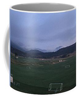 Coffee Mug featuring the photograph Cloudy Morning At The Field by Christin Brodie