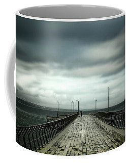 Cloudy Pier Coffee Mug by Perry Webster