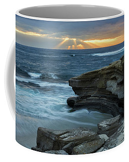 Cloudy Sunset At La Jolla Shores Beach Coffee Mug