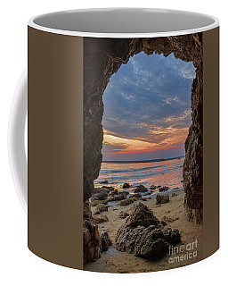 Cloudy Sunset At Low Tide Coffee Mug