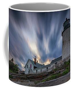 Cloudy Sunset At Pemaquid Point Coffee Mug