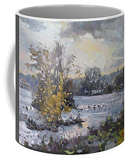 Cloudy Sunset In Niagara Falls River  Coffee Mug