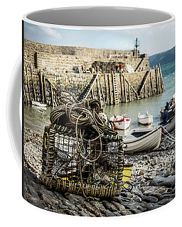Coffee Mug featuring the photograph Clovelly Crab Trap by Nick Bywater