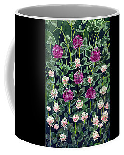 Coffee Mug featuring the painting Clover by Katherine Miller