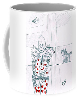 Clown With Crystal Ball And Mermaid Coffee Mug