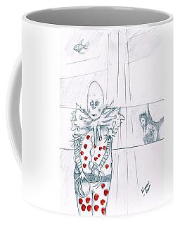 Clown With Crystal Ball And Mermaid Coffee Mug by Dan Twyman