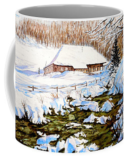 Clubhouse In Winter Coffee Mug