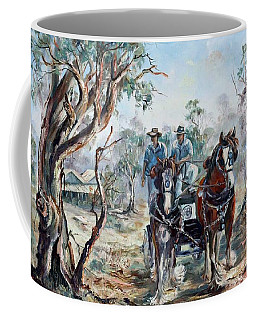 Clydesdales And Cart Coffee Mug