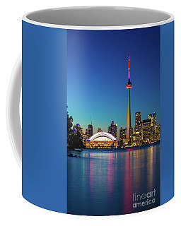 Coffee Mug featuring the photograph Cn Tower Rogers Centre Toronto  by Mariusz Czajkowski