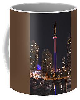 Cn Tower Toronto From Marina At Night Coffee Mug