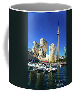 Coffee Mug featuring the photograph Cn Tower  Toronto Marina Canada150 by Mariusz Czajkowski