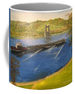 Coal Barges On The Ohio Coffee Mug